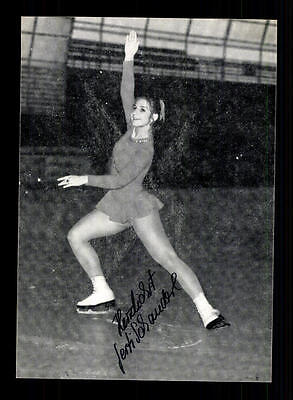 Gerti Schauderl Autogrammkarte Original Signiert Eiskunstlauf + A 155306