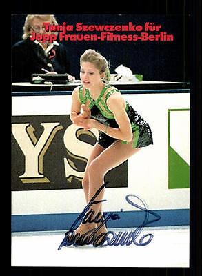 Tanja Szewczenko Autogrammkarte Original Signiert Eiskunstlauf + A 155311