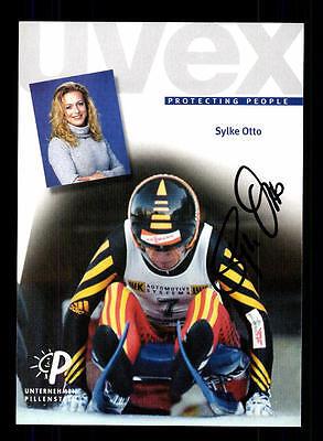 Sylke Otto Autogrammkarte Original Signiert Rodeln+A 124371