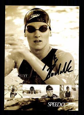 Antje Buschschulte Autogrammkarte Original Signiert Schwimmen + A 134629