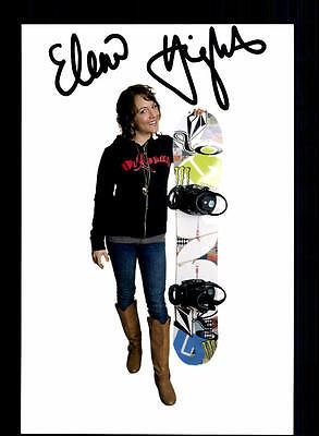 Elena Hisht Autogrammkarte Original Signiert Snowboard + A 134033