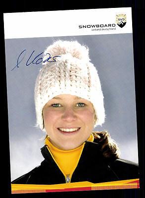 Amelie Kober Autogrammkarte Original Signiert Snowboard+ A 134015