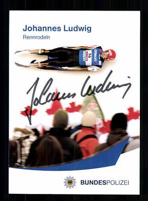 Johannes Ludwig Autogrammkarte Original Signiert Rodeln +A 191825
