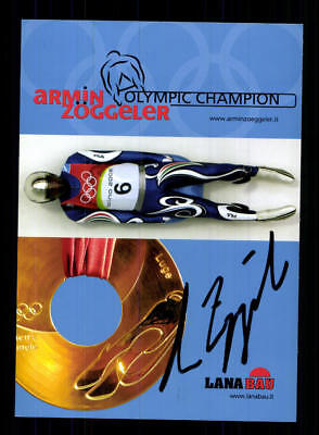 Armin Zöggeler Autogrammkarte Original Signiert Rodeln +A 177661