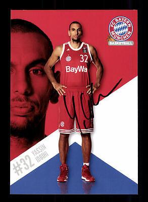 Yassin Idbihi Autogrammkarte Bayern München Original Sign Basketball+A 164050