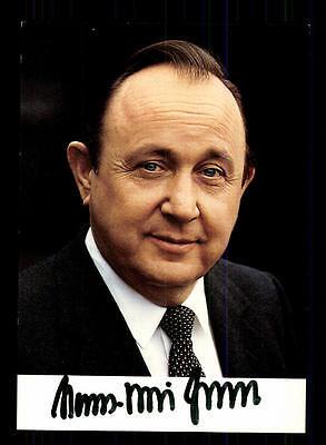 Hans Dietrich Genscher Autogrammkarte Original Signiert # BC 94932