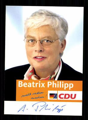 Beatrix Philipp Autogrammkarte Original Signiert ## BC 133122