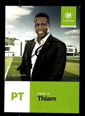 Pablo Thiam Autogrammkarte VFL Wolfsburg 2017-18 Original Signiert+A 174425