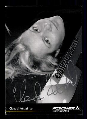Claudia Künzel Autogrammkarte Original Signiert Ski Alpine + A 151877