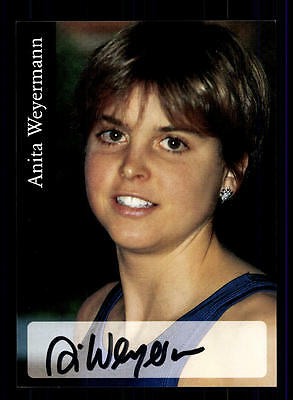 Anita Weyermann Autogrammkarte Original Signiert Leichtathletik + A 152233