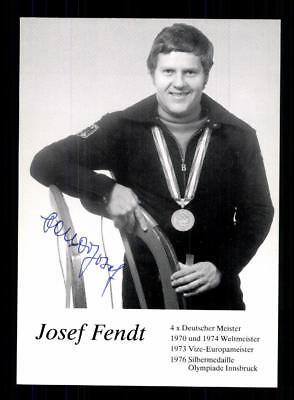 Josef Fendt Autogrammkarte Original Signiert Rodeln +A 177662