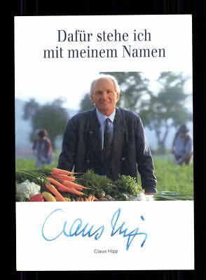Claus Hipp Autogrammkarte Original Signiert Witschaft ## BC 113587