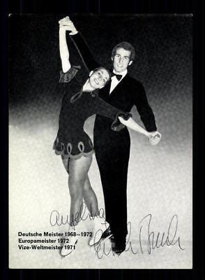 Angelika und Erich Buck Autogrammkarte Original Signiert Eiskunstlauf +A 188098