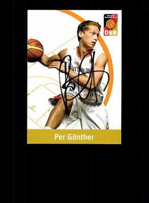 Per Günther Deutscher Basketball Bund Original Signiert Basketball + A 157068