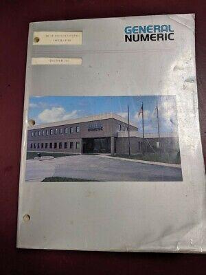General Numeric Programming Operator Manual 10 Tf Gn54884e01 Snc Cnc Lathe