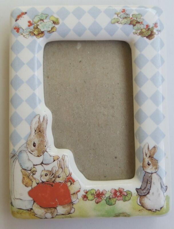"Beatrix Potter Peter Rabbit Photo Frame 2"" x 3"" Nursery room Decor ceramic"