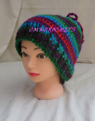 (Crochet Hat Chic Soft  Fashion messy bun Mom Sister FREE SHIPPING A3)