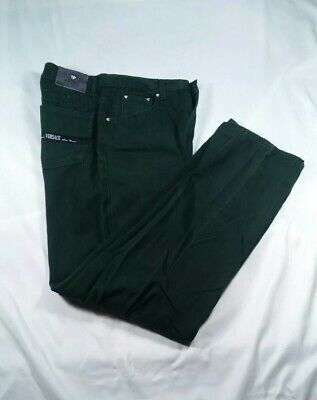 Versace Jeans Couture Green Straight Leg Italy Men's Size 32 Meas 30 × 30.5