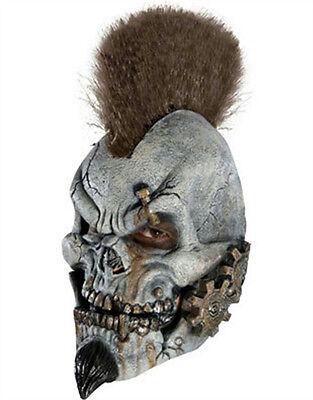 Motormouth Gear Head Mohawk Punk Skeleton Robot Skull 3/4 Vinyl Child Mask](Kids Skull Mask)