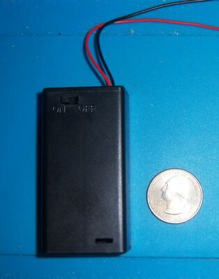 2x Battery Holder Holds 2 Aa Batteries Case Onoff Switch With Screw Usa