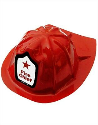 New Adult Plastic Fireman Costume Fire Chief Helmet Hat](Plastic Fire Helmet)