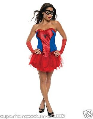 The Amazing Spider-Man Spider-Girl Female Costume Marvel Size 6-10 Rubies 820014 - Spiderman Female Costume