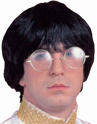 Adult Mens Costume Black Groovy Guy 60s Beatle Mop Wig