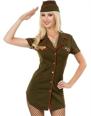 Womens Sexy Green Army Angel Soldier Officer - Soldier Costume For Women