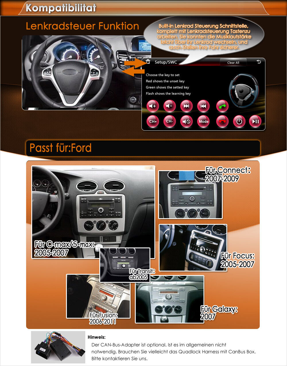 r ckfahrkamera 7 hd 3g navigation dvd f r ford focus. Black Bedroom Furniture Sets. Home Design Ideas
