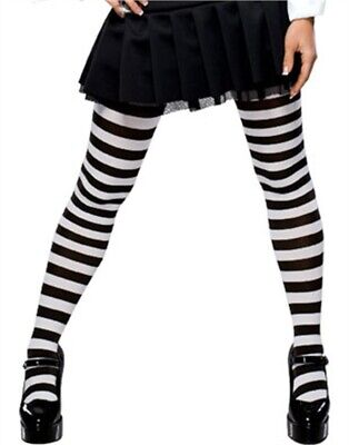 Black And White Striped Stockings (Sexy Black and White Striped Wednesday Adams)