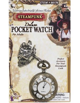 Steampunk Pocket Watch Victorian Industrial & Science Fiction-Costume Jewelry