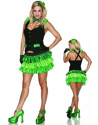 Leprechaun Costume Women (Lucky Charm Sexy St. Patrick's Day Costume Leprechaun Women's Size)