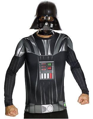 LAST ONE! NEW Darth Vader STAR WARS HALLOWEEN Costume Top Cape Mask SZ XL 40-42 - Darth Vader Halloween Costume