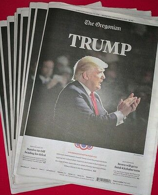 President Donald Trump Newspaper Day after election 11/9/16 MAGA New York Times