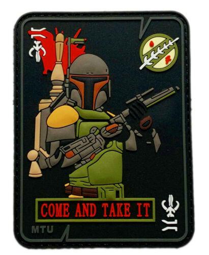"Mandalorian Boba Come and Take it Dead Card Patch [3D-PVC-""Velcro Brand"" CT2]"