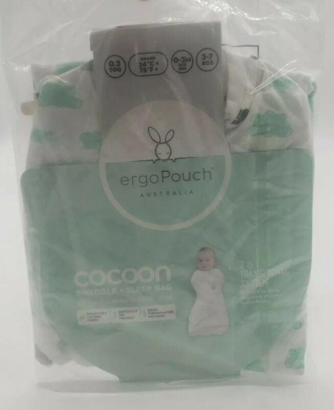 NEW Ergo Pouch Australia Cocoon Swaddle & Sleep Bag new w/Tags 0-3Months