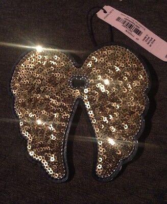 Victoria Secret ANGEL wings Gold Sequin Ponytail Elastic Band/Bottle decor - Bottle Bands