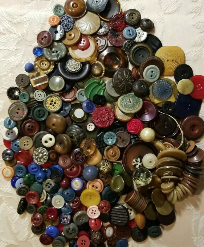 Lot of Antique Buttons, Incredible Variety,1800