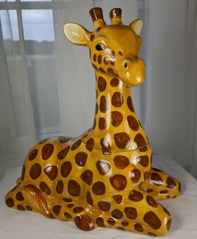 Stephanie Stouffer Jungle Animals Giraffe Cookie Jar With Box Sakura SL982/29A