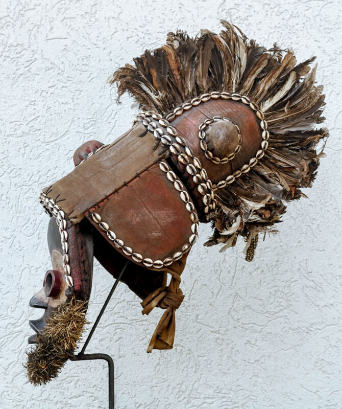 Dan African Mask With Stand | African Tribal Mask | African Art | Wood Mask