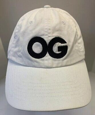 Old Gangster Hats (OG Original Gangster Old Baseball Cap Strapback Hat White Black Logo Men)
