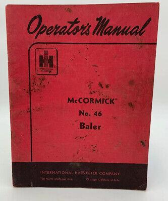 Mccormick 46 Baler Manual International Harvester Operators Owners 19-2685gi