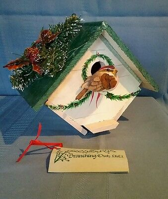 Branching Out Decorative Holiday Bird House