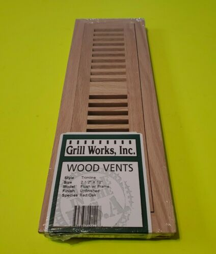 Hardwood Red Oak Floor Vent, Wood Floor Register by Grill Wo