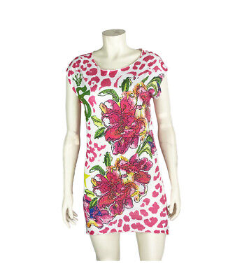 SO TWEE BY MISS GRANT Graphic Print T-Shirt Dress w/ Tags, Pink, Size: 14