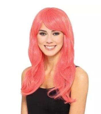 Allure Wig Orange Premium Coral NIP Costume Halloween Styleable Heat Resistant](Premium Halloween Costume)