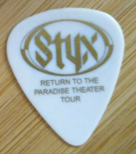 Styx 1997 Return To The Paradise White James Young Signature Guitar Pick - $4.25