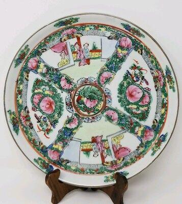 "Handpainted Famille Rose Plate - Macau 10"""