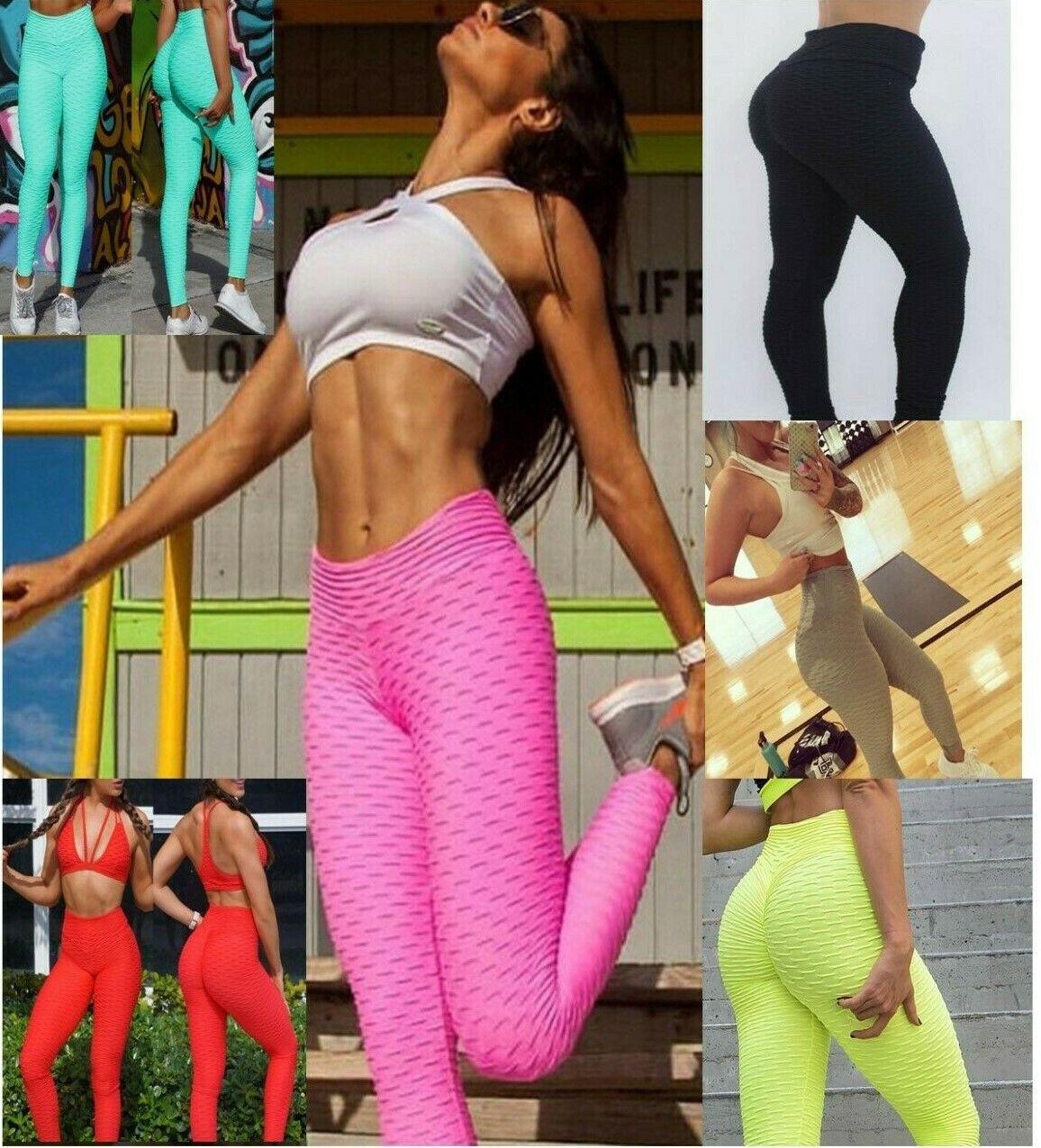 Women's Anti-Cellulite Yoga Pants Push Up Leggings Sports Fi