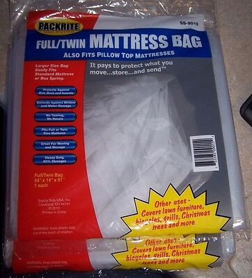 Lot Of 2 Packrite Mattress Box Covers Moving Storage Bag 54 X 14 X 91 Ss-9015